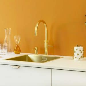 Quooker fusion round goud inclusief montage